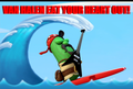 Larry The Cucumber: VAN HALEN EAT YOUR HEART OUT! - veggie-tales fan art