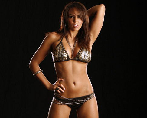 WWE Layla Hintergrund with a bikini entitled Layla Photoshoot Flashback
