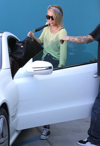 Leaving Winsor Pilates in West Hollywood [25th June]