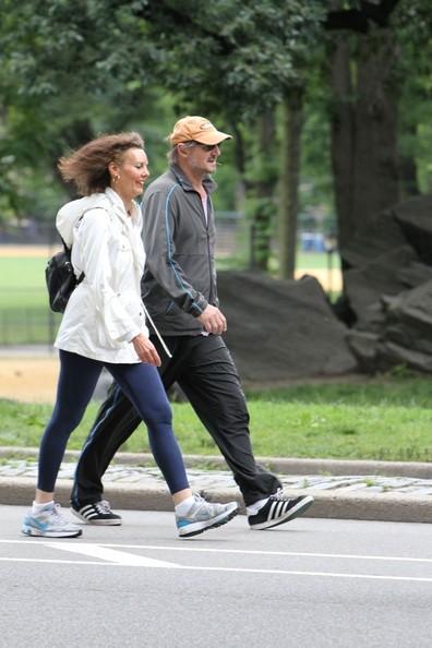 Liam Neeson Strolls Around Central Park
