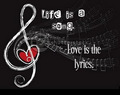 Life is a Song, l'amour is the Lyrics