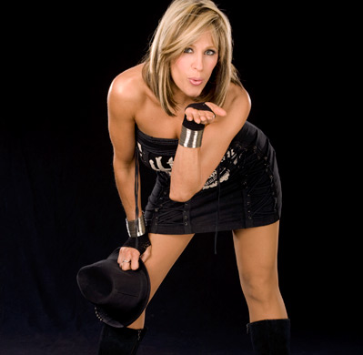 Lilian Garcia achtergrond with bare legs, hosiery, and a hip boot called Lilian Garcia Photoshoot Flashback