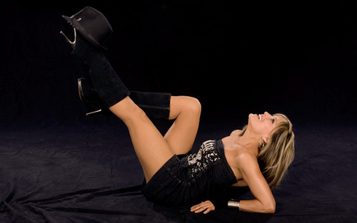 Lilian Garcia wallpaper probably with a hip boot and a legging titled Lilian Garcia Photoshoot Flashback