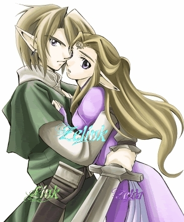 Link and Zelda Hugged