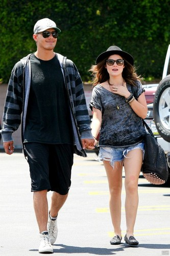 Lucy & Chris out and about in Sherman Oaks, LA - chris-zylka-and-lucy-hale Photo