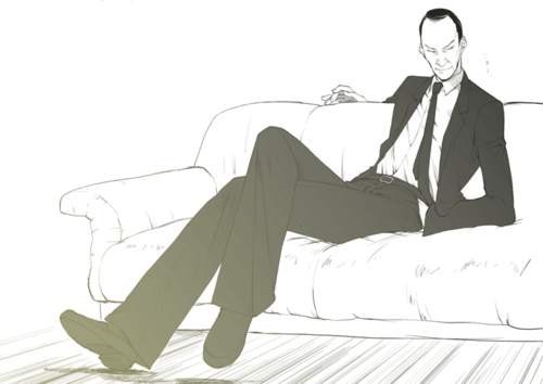 Monster wallpaper containing a business suit, a well dressed person, and a couch entitled MONSTER.