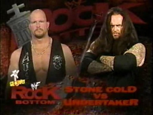 Match Card for Stone Cold vs Undertaker in a Buried Alive Match, 1998