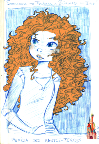 Merida - Legende der Highlands Hintergrund with Anime titled Merida Fan art