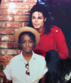 Michael Jackson and his niece Yashi Brown (Rebbie Jackson's daughter) 2300 Jackson St music video  - michael-jackson photo