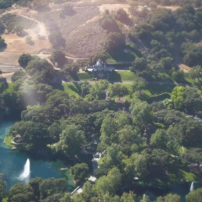 Michael Jackson's fans take flight over Neverland on June 25th 2012