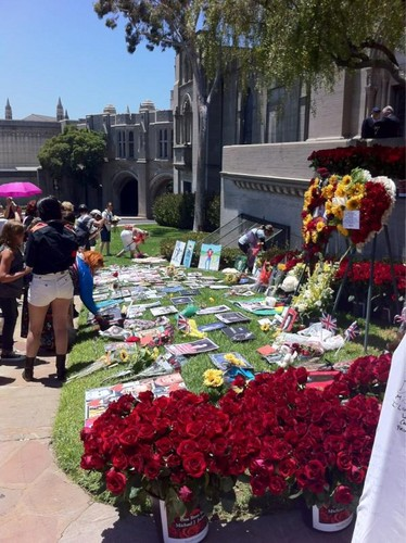 Michael Jackson images Michael's grave at forest lawn june 25th 2012 HD wallpaper and background photos