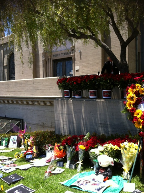 Michael's grave at forest lawn june 25th 2012