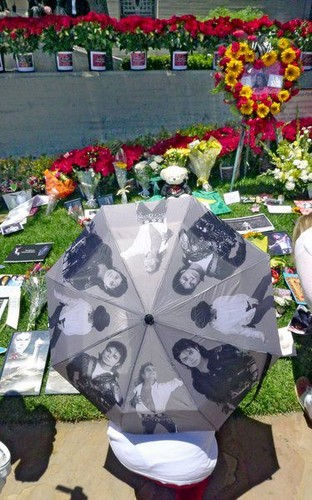 Michael's grave at forest lawn, glendale LA june 25th 2012
