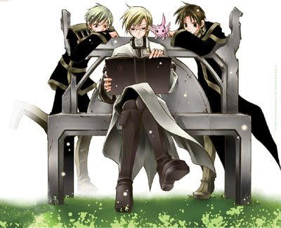 Mikage, Teito, Hakuren, and Burupya Mikage