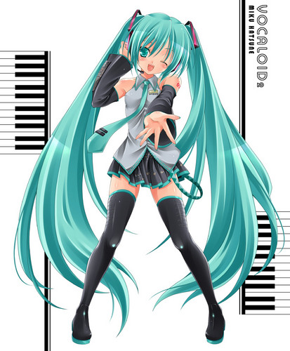 Hatsune Miku hình nền probably containing anime entitled Miku Hatsune