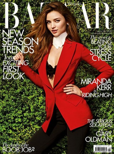 Miranda Kerr Covers Harper&#39;s Bazaar UK August 2012 - miranda-kerr Photo