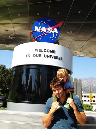 Misha and West at NASA