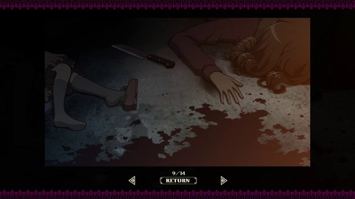 Momoand her mother bloody scene in the PSP