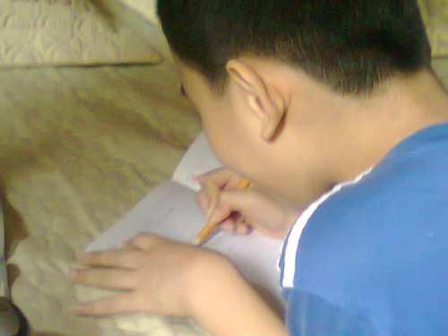 My brother is writing