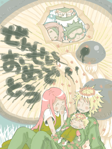 Namikaze Family + Old Team 7 <3