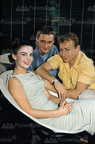 Nat, Nick Adams and Dennis Hopper in around 1955