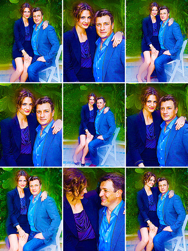 Nathan Fillion 바탕화면 called Nathan Fillion & Stana Katic