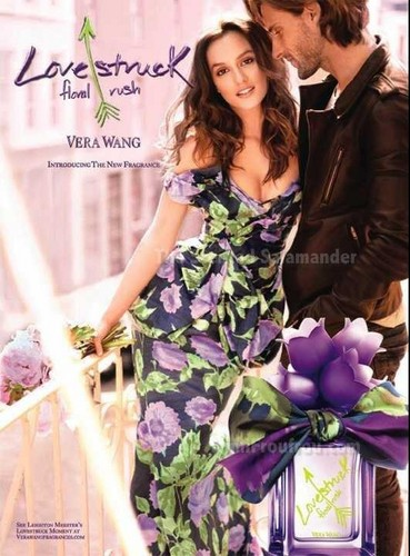 "New Leighton promo pic for the new Vera Wang ""Lovestruck Floral Rush"" perfume ♥"
