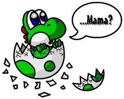 Yoshi wolpeyper containing a venn diagram titled Newly-hatched Yoshi