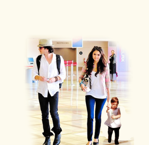 Ian Somerhalder and Nina Dobrev wallpaper with a well dressed person and long trousers entitled Nian Family