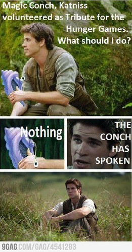 OH HAIL THE MAGIC CONCH! - the-hunger-games Photo