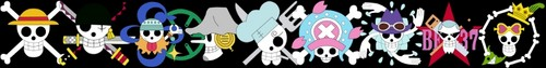 One Piece Banner: Post Time Skip Jolly Rogers