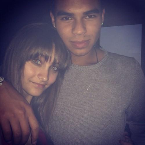 Paris Jackson and her cousin Randy Jackson Jr