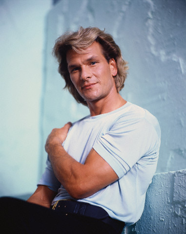 Patrick Swayze Hintergrund possibly containing a Tennis player and a portrait titled Patrick Swayze