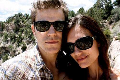Paul Wesley wallpaper with sunglasses titled Paul and torrey