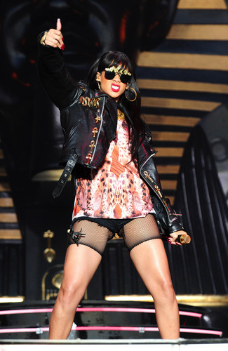 Rihanna wallpaper with a hip boot called Performing At BBC Radio 1 Hackney Weekend In London [24 June 2012]
