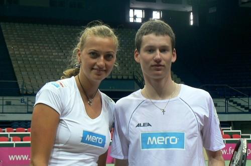 Petra Kvitova and David Poljak