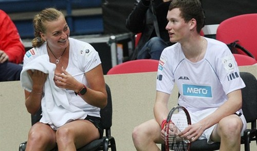 Petra Kvitova and David Poljak