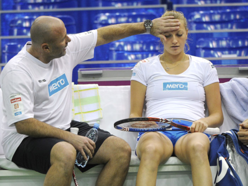 Petra Kvitova and coach David Kotyza