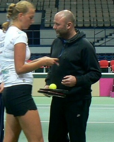 Petra Kvitova and coach David Kotyza.. - tennis Photo