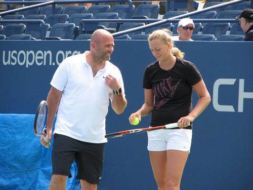 Petra Kvitova and coach David Kotyza..
