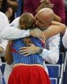 Petra Kvitova embrace with coach..