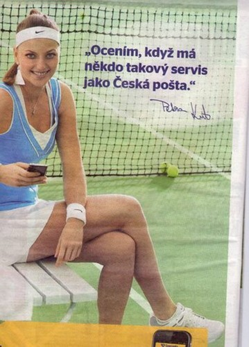 Petra Kvitova promotion of Czech  mail