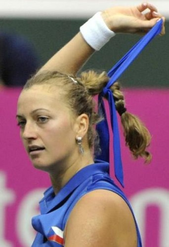 Petra Kvitova sexy gesture - tennis Photo