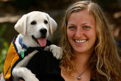 Petra and dog - tennis Photo
