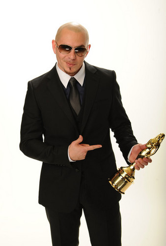 Pitbull Rapper Wallpaper With A Business Suit And Entitled
