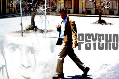Psycho wallpaper probably with a street and a business suit entitled Psycho
