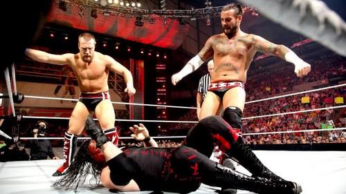 Punk vs Bryan vs Kane