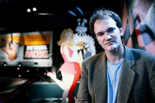 Quentin Tarantino on the set