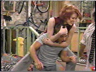 Rachel wrestling Jack