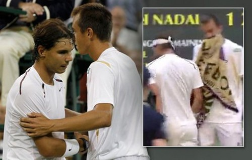 Rafael Nadal gave Rosol first priority, then to thrust him !